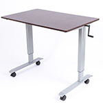 "Luxor 48"" High Speed Crank Adjustable Stand Up Desk - STANDUP-CF48-DW ES6669"