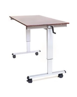 "Luxor STANDUP-CF60-DW - 60"" Crank Adjustable Stand Up Desk ES6670"