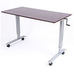 "Luxor 60"" High Speed Crank Adjustable Stand Up Desk - STANDUP-CF60-DW ES6670"
