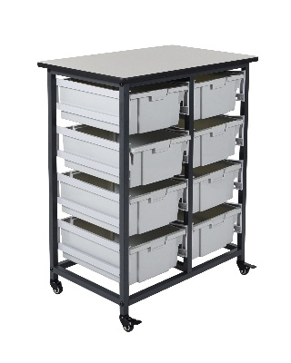Luxor MBS-DR-8L - Mobile Bin Storage Unit - 8 Drawer ES7438