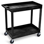 Luxor EC-Series - 32 x 18 Tub Cart - 2 Shelves (3 Colors Available) ES7444