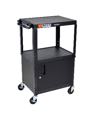 Luxor Adjustable Height Steel A/V Cart/Cabinet - (4 Colors Available) ES7448
