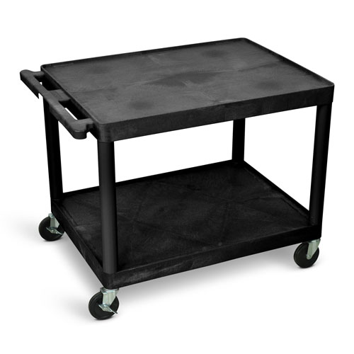 "Luxor 27""H AV Cart - Two Shelves - LP27-B"