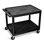 "Luxor 27""H AV Cart - Two Shelves - LP27-B ES7452"