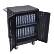 Luxor LLTP24-B - 24 Laptop/Chromebook Computer Charging Cart ES7453