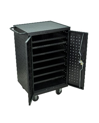 Luxor LLTS12-B - 12 Tablet/Chromebook Computer Charging Cart ES7456