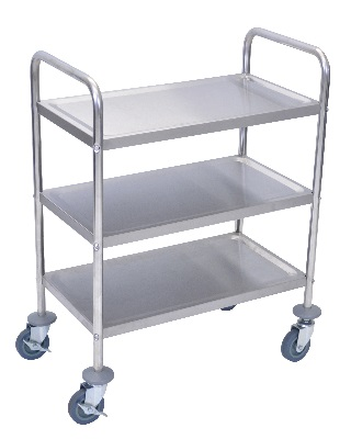 "Luxor L100S3 - 37""H Stainless Steel Cart - 3 Shelves ES7459"