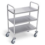 "Luxor 37""H Stainless Steel Cart - Three Shelves - L100S3 ES7459"