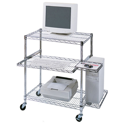 Luxor LICW4218 - Adjustable Wire Mobile Workstation - Pullout Tray ES7461