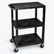 Luxor Tuffy Utility Cart - 3 Shelves (7 Colors Available) ES7466