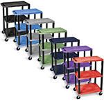 Luxor Tuffy Utility Cart - Three Shelves - WT34 (7 Colors Available) ES7466
