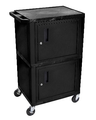 "Luxor 42"" Tuffy A/V Cart - Double Cabinet (7 Colors Available) ES7467"