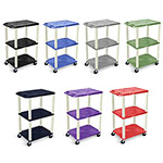 "Luxor 42"" Tuffy A/V Cart - 3 Shelves - Putty Leg (7 Colors Available) ES7468"