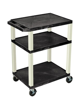 "Luxor 34"" A/V Cart - 3 Shelves - Putty Leg (8 Colors Available)"