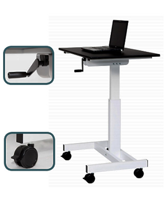 Luxor STANDUP-SC40-WB - Sit to Stand Student Desk