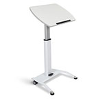 Luxor Pneumatic Height Adjustable Lectern - LX-PNADJ-WH ES7649