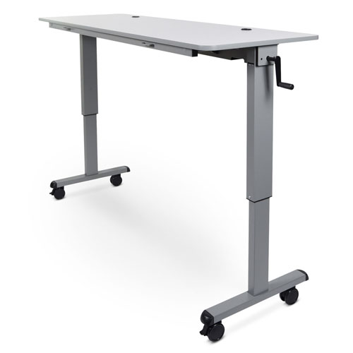 "Luxor 60"" Adjustable Flip Top Table with Crank Handle - STAND-NESTC-60"