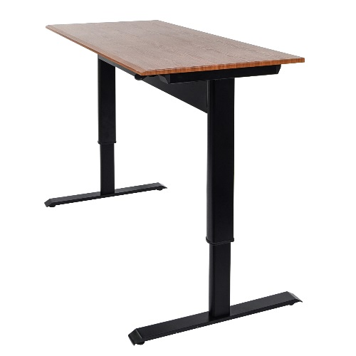 "Luxor SPN48F-BK-TK - 48"" Pneumatic Adjustable Height Standing Desk"