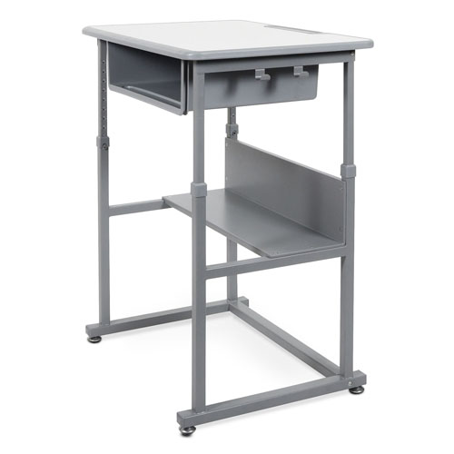 Luxor STUDENT-M - Sit-to-Stand Student Desk with Manual Adjustment