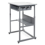 Luxor Sit-to-Stand Student Desk with Manual Adjustment - STUDENT-M ES8792