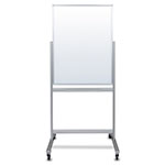 "Luxor 30""W x 40""H Double-Sided Mobile Magnetic Glass Marker Board - MMGB3040 ES8845"
