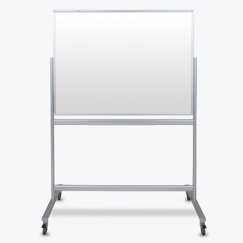 Luxor MMGB4836 - 48x36 Double-Sided Mobile Magnetic Glass Marker Board