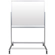 Luxor MMGB4836 - 48x36 Double-Sided Mobile Magnetic Glass Marker Board ES8846