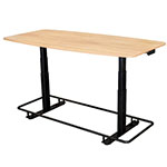 "Luxor 72"" Electric Adjustable Conference Table with Footrest Bar - STANDECTFB72WO ES9102"