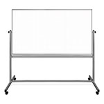 "Luxor 72"" x 40"" Mobile Magnetic Double-Sided Ghost Grid Whiteboard - MB7240LB ET10422"