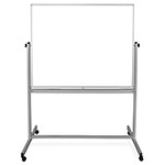 "Luxor 48""W x 48""H Double-Sided Magnetic Whiteboard - MB4848WW ET10424"