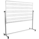 "Luxor 72""W x 48""H Mobile Double Sided Music Whiteboard - MB7248MM ET10427"