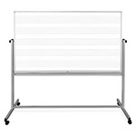 "Luxor 72""W x 48""H Mobile Music Whiteboard/Whiteboard - MB7248MW ET10428"
