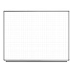 "Luxor 48"" x 36"" Wall-Mounted Magnetic Ghost Grid Whiteboard - WB4836LB ET10436"