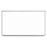 "Luxor 72"" x 40"" Wall-Mounted Magnetic Ghost Grid Whiteboard - WB7240LB ET10437"
