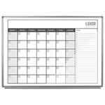 "Luxor 48"" x 36"" Magnetic Dry-Erase Monthly Calendar - WB4836CAL ET10438"