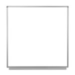 "Luxor 48""W x 48""H Wall-Mounted Magnetic Whiteboard - WB4848W ET10439"