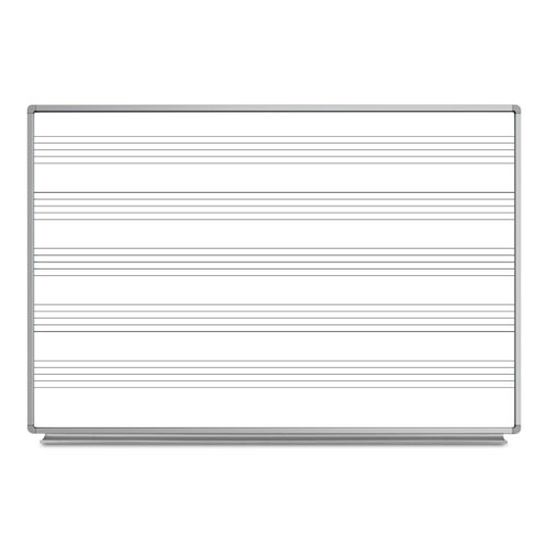 "Luxor 72""W x 48""H Wall-Mount Music Whiteboard - WB7248M"