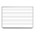 "Luxor 72""W x 48""H Wall-Mount Music Whiteboard - WB7248M ET10441"