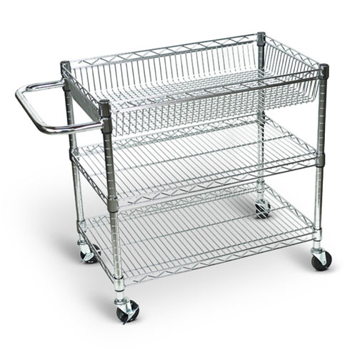 Luxor Large Wire Tub Cart - Three Shelves - LICWT2918