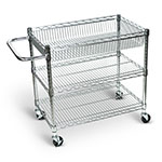 Luxor Large Wire Tub Cart - Three Shelves - LICWT2918 ET10447