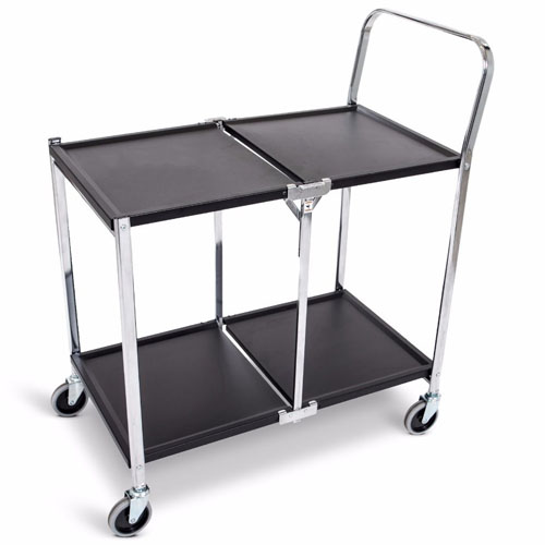 Luxor Two-Shelf Collapsible Metal Utility Cart - MSCC-2