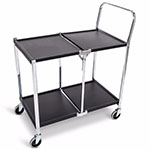 Luxor Two-Shelf Collapsible Metal Utility Cart - MSCC-2 ET10448