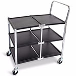 Luxor Three-Shelf Collapsible Metal Utility Cart - MSCC-3 ET10449