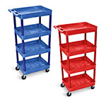 Luxor Tub Shelf Cart - Four Shelves - STC1111 (2 Colors Available) ET10456