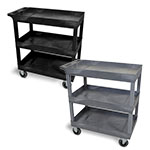 "Luxor 32"" x 18"" Cart - Three-Tub Shelf with 5"" Casters - EC111SP5 (2 Colors Available) ET10465"