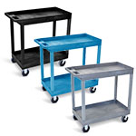 "Luxor 32"" x 18"" Tub Cart - Two Shelves - EC11HD (3 Colors Available) ET10468"