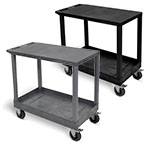 "Luxor 32"" x 18"" Cart - Flat/Tub Shelf with 5"" Casters - EC21SP5 (2 Colors Available) ET10495"