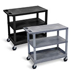"Luxor 32"" x 18"" Cart - Two Flat/One Tub Shelves - EC221 (2 Colors Available) ET10497"