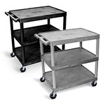 Luxor Utility Cart - Three Shelves Structural Foam Plastic - HE33 (2 Colors Available) ET10502
