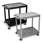 Luxor Utility Cart - Two Shelves Structural Foam Plastic - HE38 (2 Colors Available) ET10503